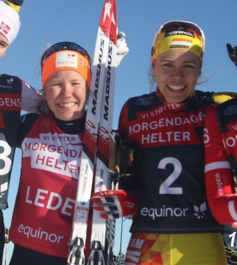 VENNINNER: Helene Marie Fossesholm er imponert over hva Margrethe Bergane presterte under junior-VM i helgen. Her er de avbildet i 2019, hvor de begge deltok i norgescupen for juniorer.