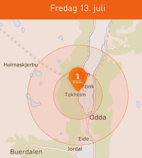 MILLION: Fredagens hovedvinner i Nabolaget bor på Tokheim i Odda.