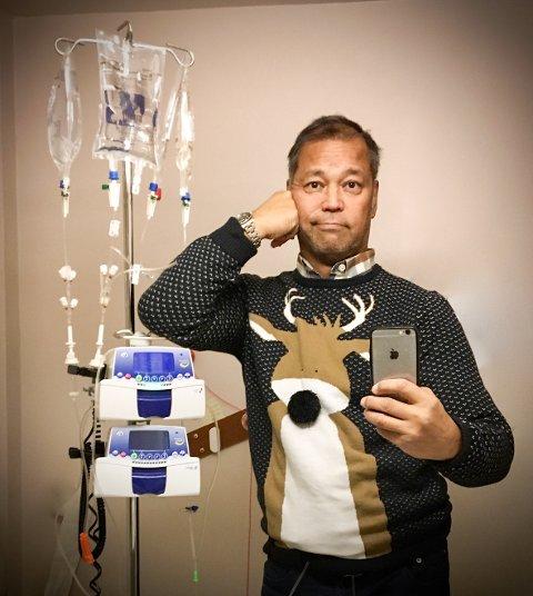 MANGE CELLEGIFTKURER: Andreas Bjørge (57) fra Langhus har bukspyttkjertelkreft med spredning til leveren og er langt på overtid.