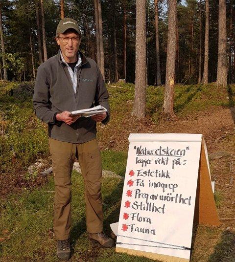UTFORDRINGER: Sarpsborgs skogbrukssjef, Egil Holme, snakket om utfordringene rundt skogsdrift i bynære områder.
