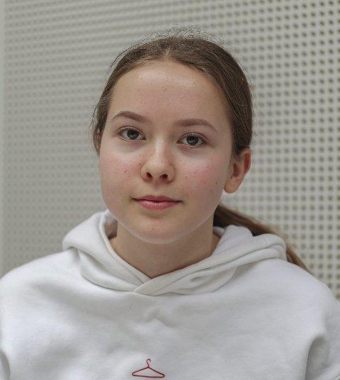 Helmine Furulund (16) fra Ørje: – Nei.