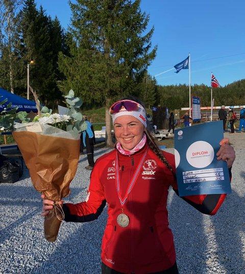 Sølvvinner: Gina Lagmandsveen Nyvoll tok sølv i NM.