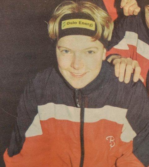 ANNO 2000: Maren Haugli som ung, knapt 15 år gammel skøyteløper.