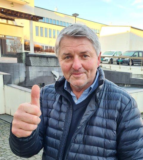 FORNØYD: Ordfører Knut Kvale er svært fornøyd med at Øvre Eiker får lov til å lette på koronareglene.