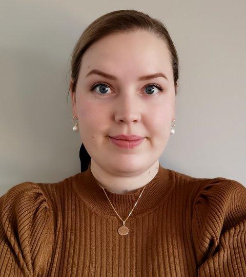 JOBB: Inger-Lise Lykkås Moen trives godt i sin nye jobb hos Glitre Energi Strøm.