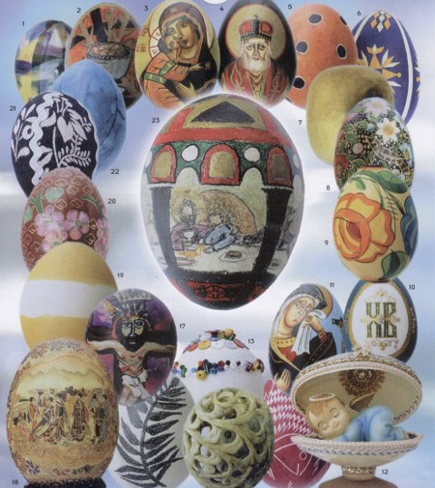 UTSTILLING: Egg-utstillingen i Holmlia kirke åpner etter gudstjenesten søndag 18. mars og varer til over påske.