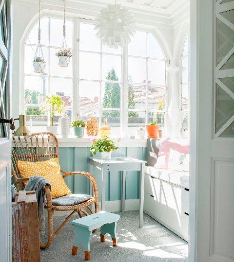 Vinterhagen er Karianne Christensens favorittsted i huset.