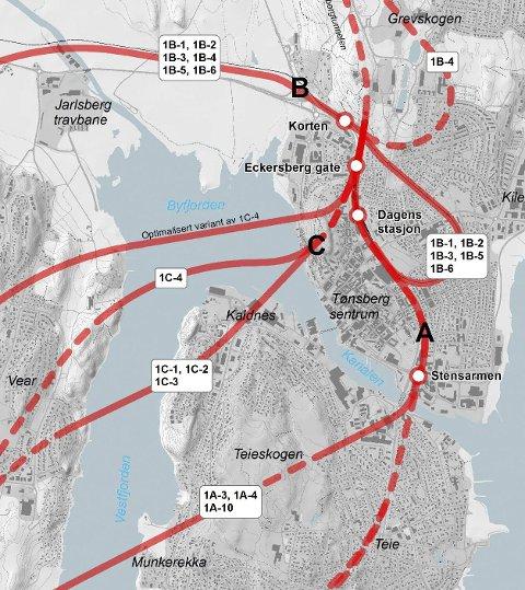 tønsberg togstasjon kart Tønsbergs Blad   Det må være mulig å flytte jernbanestasjonen i  tønsberg togstasjon kart