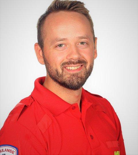 På rasstedet: Emil Kampen Hamre (28) fra Fagernes har bistått i ambulansetjenesten etter jordraset på Gjerdrum.