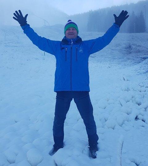 ÅPNING: Alpinsesongen er endelig i gang i Varingskollen.