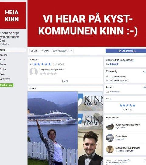 Skjermdump: Frå Facebook-gruppa «Vi som heier på kystkommunen Kinn».