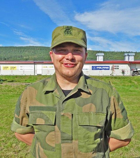 Tom Marius G. Kalvik overrasket og er klar for finale i militært mesterskap. Foto: Yngve Paulsen