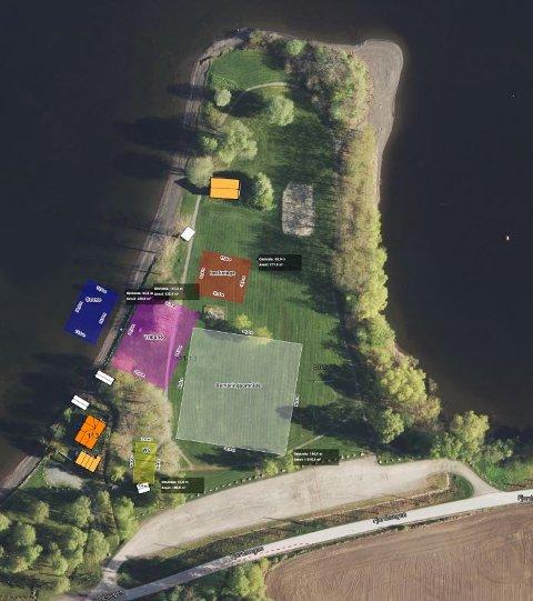 KART: Oversiktskart over operafesten på Ulsnestangen.