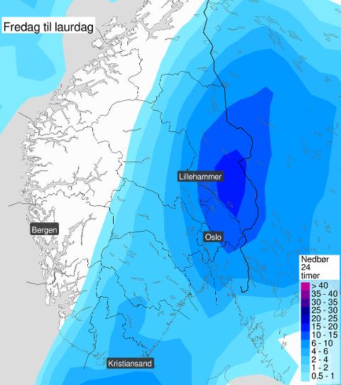 SNØ: I helgen kommer etter alt å dømme årets første snøfall i lavlandet.