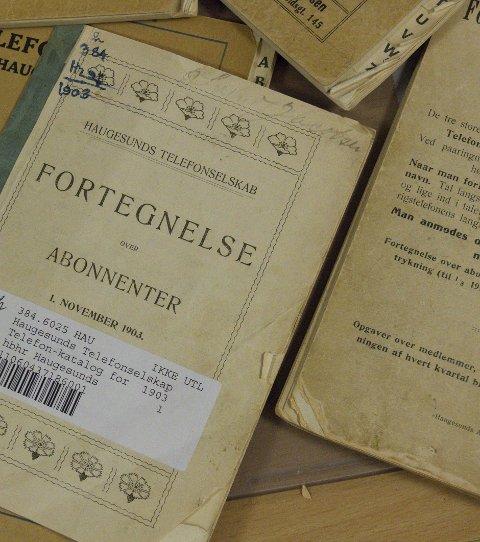TELEFONKATALOG:  Gamle kataloger fra 1900-tallet,