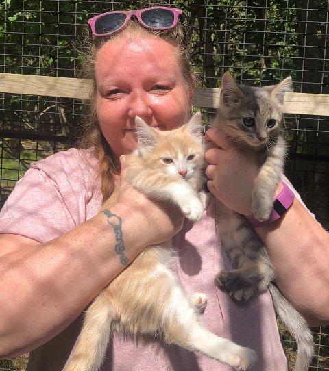 SOMMERPRATEN: Siv Ekhaugen har et hjerte som banker for dyr, og jobber som frivillig på Kattehuset.