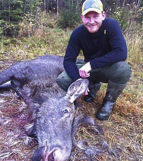 KLAR: Håkon-Andreas Lorentzen fra Trøgstad gleder seg stort til elgjakta. Laget hans starter først på torsdag. FOTO: PRivat
