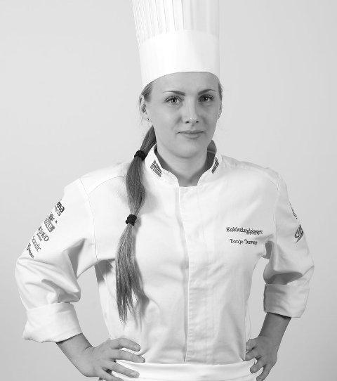 Tonje Torvanger frå Sogndal er med i VM i kokkekunst, og har sikra seg to gull til no. (Pressefoto)