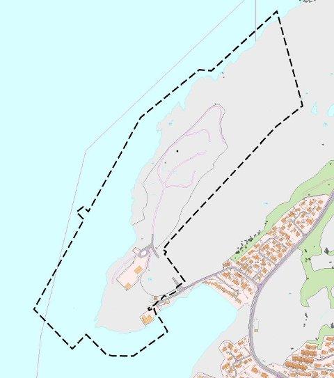 Det jobbes med en detaljreguleringsplan for Kvalvikodden. Der skal det legges til rette for uttak av masser til Bodøs nye flyplass. Illustrasjon: Norconsult/Bodø kommune