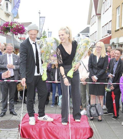 Avduking i 2015: Kristoffer Joner og Ane Dahl Torp.