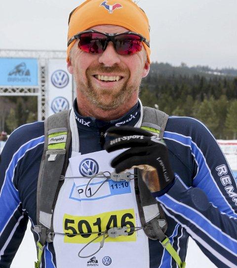 SEIER: Ronny Bråten vant klasse 40-49 år i Halvbirken søndag.