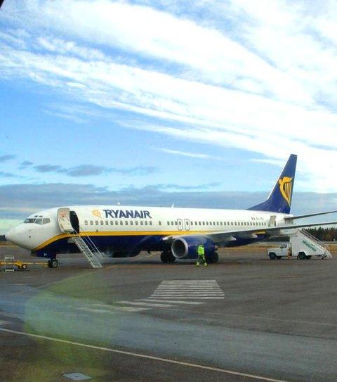 Ryanair: Neste år har de fire sommerruter fra Torp. Fra Rygge har de hele 24. Arkivfoto