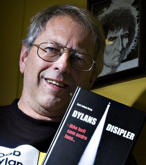 Stor fan: Carl Johan Berg har skrevet boken «Dylans disipler – ikke helt som andre fans ...» om sanger og poet Bob Dylan. Arkivfoto