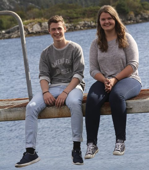FØRSTEGONGSVELJARAR: Mandag skal Vibeke og Åsmund stemma for første gong.