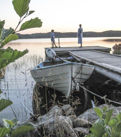 LIKE VARM: «Sommeren 2013 var Ørsjøen nesten like varm som i år», skriver Ingela Nøding i sin hyllest til Ørsjøen.