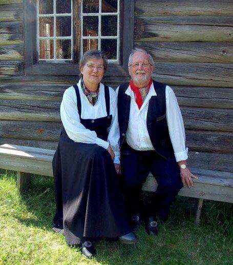 Klare: Sissel og John Peder Hatten fra Trysil er superveteraner i rundom på Landskappleiken. De hadde for øvrig gullbryllup i fjor.