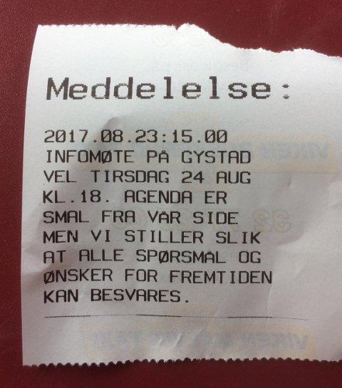 MØTE: Drosjeeierne på Øvre Romerike skal møtes på Gystad velhus utenfor Jessheim i ettermiddag.