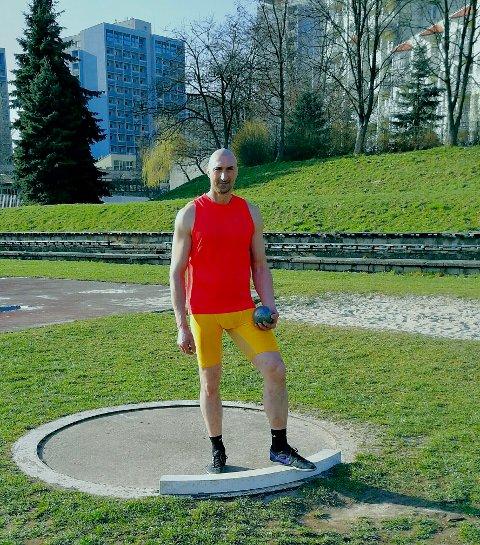 Sterk: Marcin Gasiorowski støtte kula hele 15,56 meter under et stevne på Romerike sist helg. Dette bildet er fra en tidligere konkurranse.