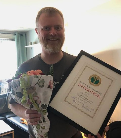 HEDER: Oslo politiforenings hederstegn er tildelt Eldar Meling (46) fra Haugesund.