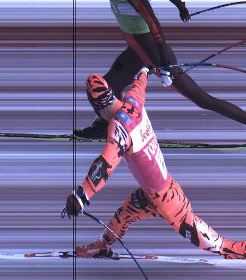 KOM FØRST: Andreas Nygaard tok femteplassen med minst mulig margin.