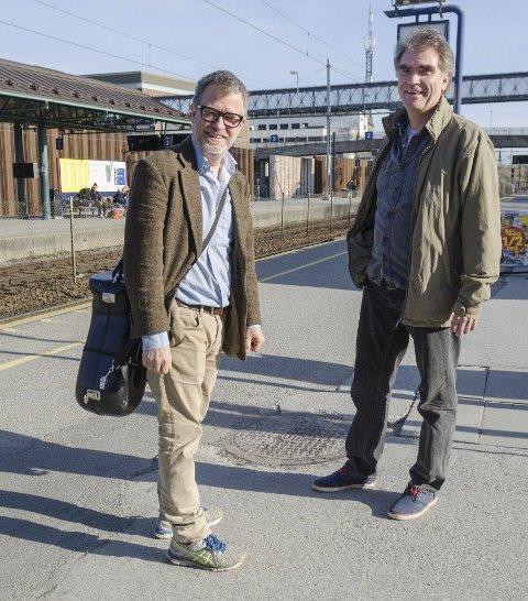 Venter flere: Når Ski skal vokse, må vi ha et godt kulturtilbud, mener Thorstein Granly (til venstre) og Kai Jordahl.
