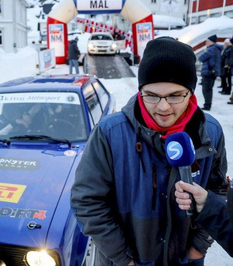 Intervjues: En sliten, men fornøyd Oscar Solberg intervjues i Numedalsrally.