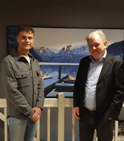 SKIFTE: Frode Bekkestad (t.h) vart vald som ny leiar i Aurland Høgre etter Jonas Hylland (t.v.)