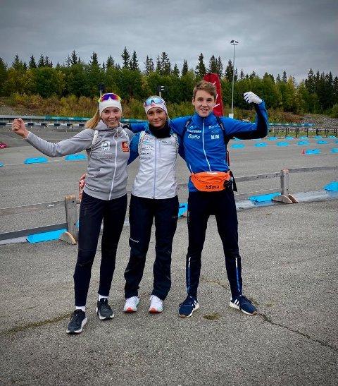 Medaljetrio: Kristine, Rikke og Kasper, alle fra Skonseng UL.