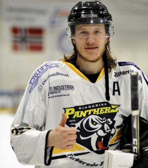 Årets spiller: Ringerike Panthers Jonas Moen.