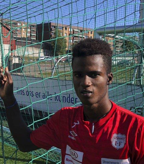 Angriper: Steeve Saint-Duc blir en særdeles billig spiller for Strømmen i høst. Foto: Per Morten Sødal