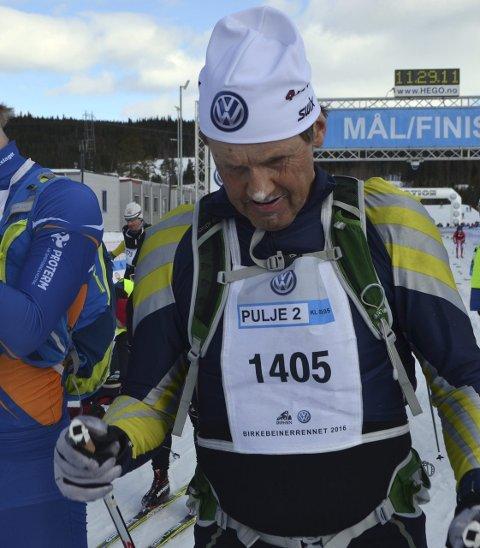 Hardhaus: Ole Reinhart Sandstad sluker mange mil på ski og presterer på høyt nivå.