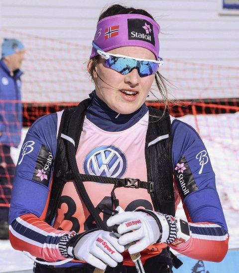 ALT FEIL: Barbro Kvåle hadde verken feste eller glid og måtte slite over fjellet.