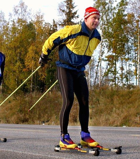 Vannblemmer: Lasse Skudal på en tidligere langtur. foto: geir hansen