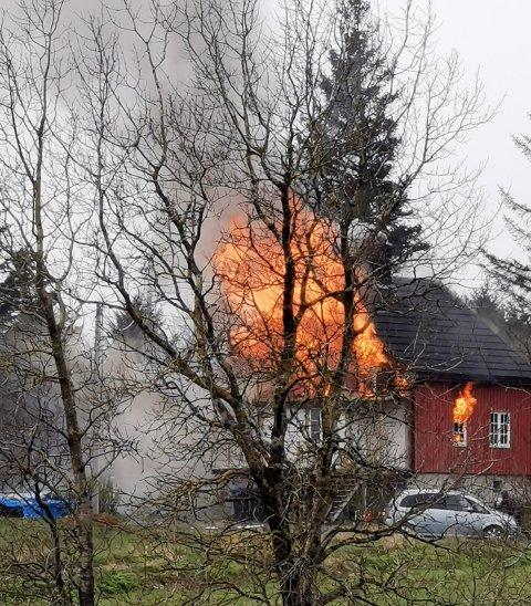 Huset på Rokstad var ikke mulig å berge.