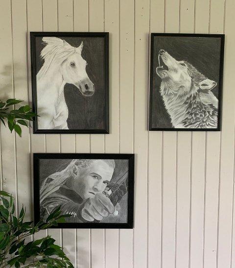 Monica Nordbrekken (25) er utstillingens yngste bidragsyter. Hun har alltid vært glad i å tegne dyr og vil vise fram noen av arbeidene sine på utstillinga.