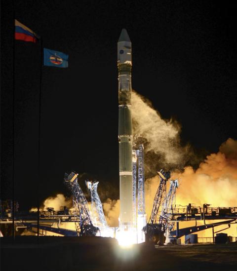 """RAKETT: Det spekuleres i om det kan være en """"Soyuz-2-1v"""", som russerne skyter ut torsdag kveld. De har i alle fall varslet flygere at nedfall fra en russisk rakett kan komme ned i Barentshavet torsdag kveld."""
