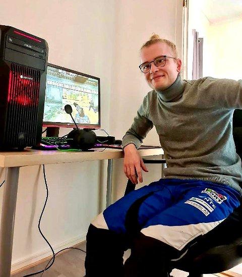 NYTT TILBUD: Mathias Pedersen er initiativtaker bak ideen om å starte opp e-sport-treninger for ungdom i Lierne.