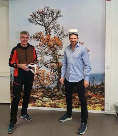 PUBLISERT NETTSIDER: Næringsutviklerne Arne Hagetrø i Rendalen (til venstre) og Bjørn Vegard Øiungen i Stor-Elvdal.