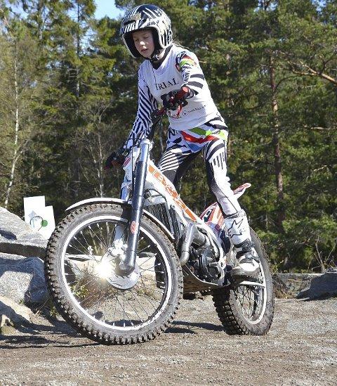 OGSÅ MED: Hanna-Eirin Swart var en av få deltakere fra Trøgstad KFUK/KFUM trial.