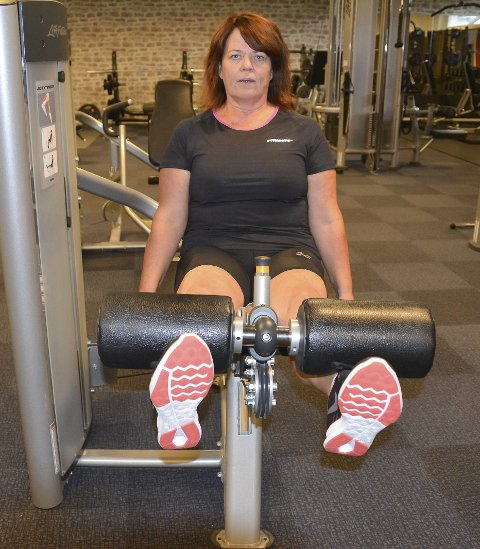 Holder vekten: Turid Ljosland Hansen (52) trener minst en time fem ganger i uken – og har lagt om kostholdet. – Det hjelper meg til å holde vekten nede, sier hun.
